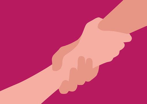 main - amitié - aide - confiance - fond - solidarité - aider - homme - femme - donner la main - symbole