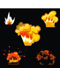explosion vector design