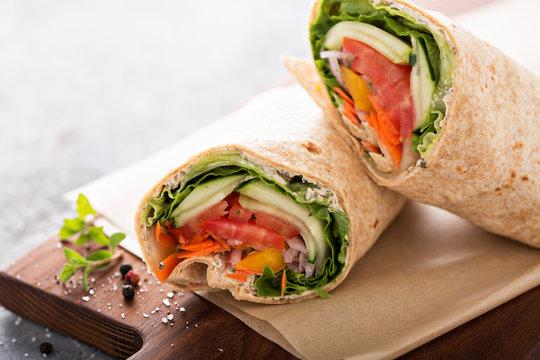 Vegan vegetable wrap