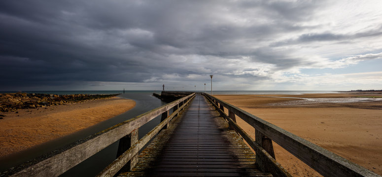 Jetty on Juno Beach, Courseulles sur mer Normandy France