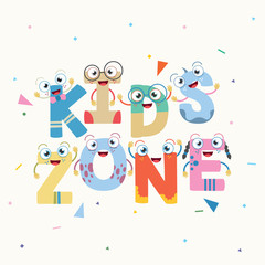 Vector Illustration Of Kids Zone Background Design
