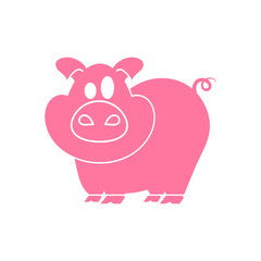 pig with icon.