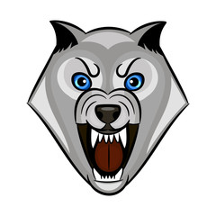 wolf growls vector
