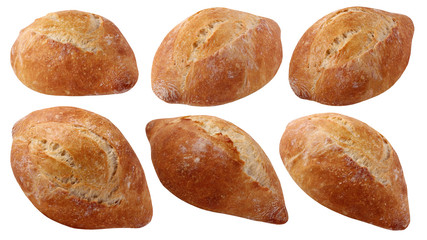 French bread isolated on a white background.