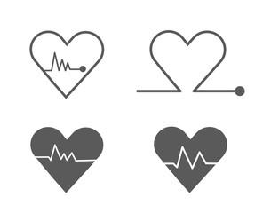 Modern Heart Pulse icon set