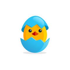 Cute chicken egg illustration
