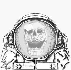 cosmonaut in space. Vector illustration
