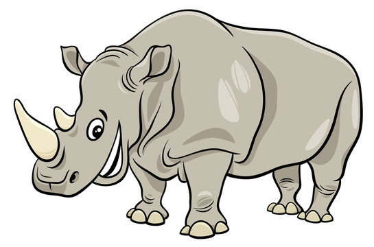 funny rhinoceros animal cartoon character