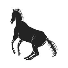horse silhouette monochrome