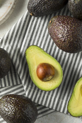 Healthy Organic Green Avocados