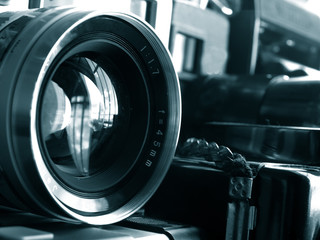vintage photography lens close up