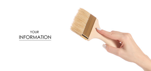 Brush for paint in hand pattern