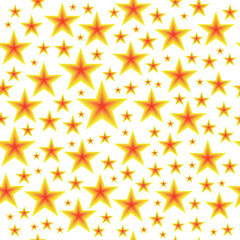 seamless vector yellow stars pattern on white background