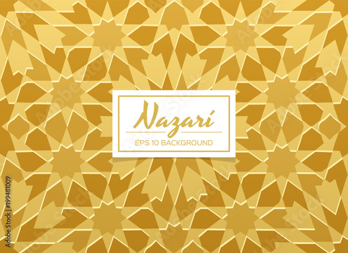 Nazari golden decorative background. Islamic design concept ...