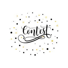 Contest. lettering on a white background isolated vector
