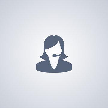 Girl operator icon