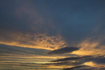 Sunset on an Autumn evening