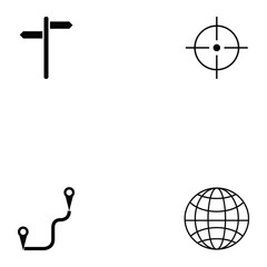 location icon set