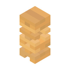Tower games for kids and adults. Tower balance game. Isometric design