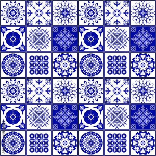 "Designer White Abstract Ceramic Wall Tile Pack Of 8 L: ""Pattern For Ceramic Tile. Vector Illustration Of A Tile"