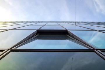 Glass facade windows