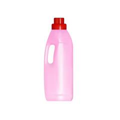 Laundry detergent plastic bottle, vector