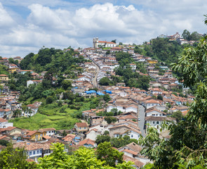 Ouro Preto, a former colonial mining town, UNESCO World Heritage Site, Minas Gerais, Brazil, South America
