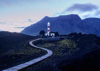 Faro de Teno, lighthouse, Punta de Teno, twilight, Tenerife Island, Canary Islands, Spain, Atlantic, Europe