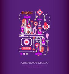 Papiers peints Art abstrait Abstract Music Art
