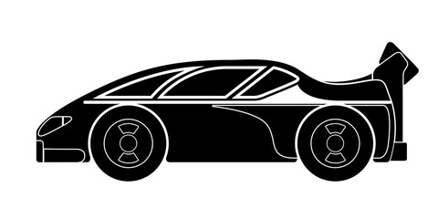 Isolated racing car icon