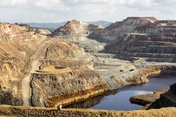 Main open-pit copper-sulphur mine at Rio Tinto, Huelva, Spain