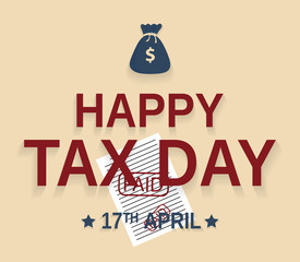 Tax Day design, 17th april. Vector illustration.