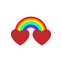 Very cool vector is when we actually combined the two hearts together with a rainbow, the combination, the blend, is more potent love sign than either one alone