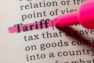 Wall Mural - definition of tariff