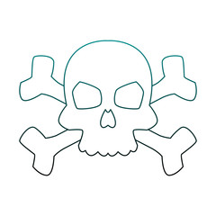 Skull with bones symbol vector illustration graphic design