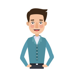 Happy man cartoon vector illustration graphic design