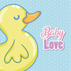 Baby love card cartoons