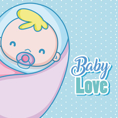 Baby love card cartoons