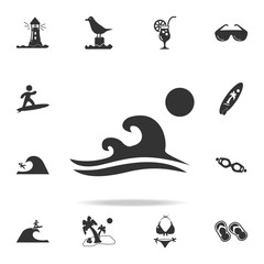 nighttime atmosphere at sea with the moon icon. Detailed set of beach holidays icons. Premium quality graphic design. One of the collection icons for websites, web design, mobile