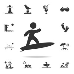 surfer icon. Detailed set of beach holidays icons. Premium quality graphic design. One of the collection icons for websites, web design, mobile app