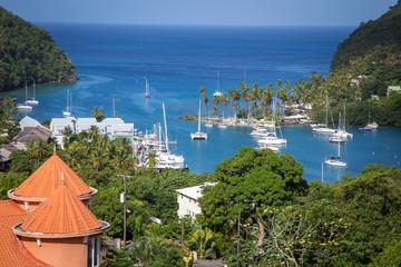 Marigot Bay in St. Lucia