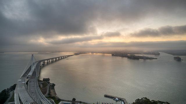 Sunrise Over Oakland's Port