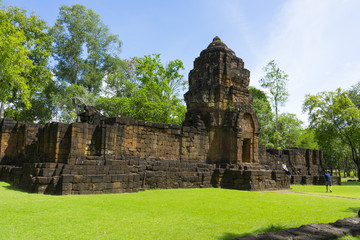 Prasat Muang Sing the antique stone castle is located at Kanchanaburi province Thailand