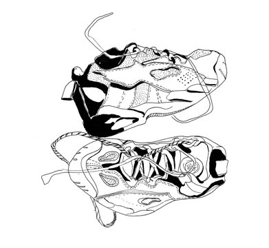 graphic sketch of sneakers