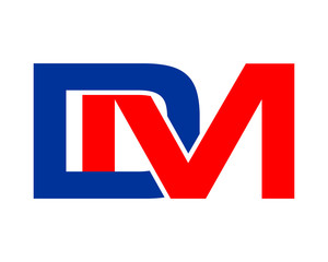 DM initial letter typography typeset logotype alphabet font image vector icon logo