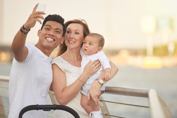 Taking Selfie with Loving Family