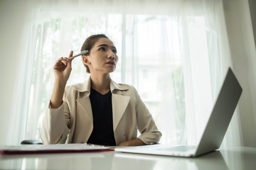 Young business people are suffering from headaches