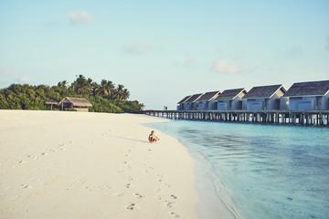 Sandy beach, Maldives