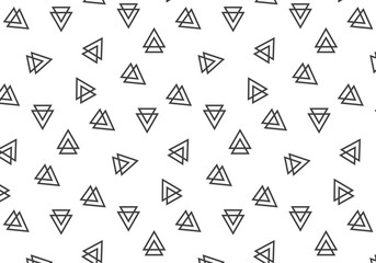Geometric triangles vector pattern on a white background