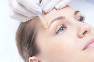 Hair removal. Cosmetic procedure. Beauty and health. Bright skin